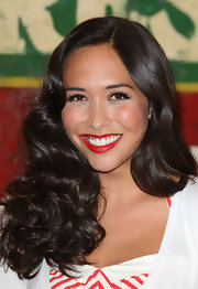 Myleene Klass styled her hair in soft ringlet curls for Coca-Cola's pop of shop.