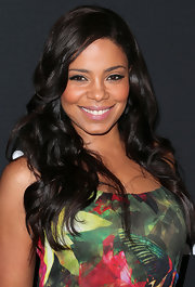 Sanaa Lathan's raven hair looked red carpet ready with shiny waves.