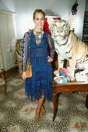 Elisabeth von Thurn und Taxis donned a stylish blue lace dress for the mytheresa.com x JJ Martin cocktail party.