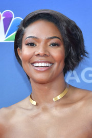 Gabrielle Union looked cute wearing this short, textured bob at the 'America's Got Talent' season 14 kickoff.