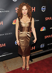 Bernadette Peters shined in a gold cocktail dress for the 'Smash' premiere in NYC.
