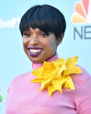 Jennifer Hudson attended the 'Hairspray Live!' FYC event wearing her hair in a bowl cut.