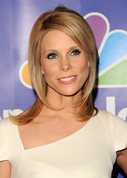 Cheryl Hines flaunted her sleek side part while attending the Upfront Presentation for NBC.