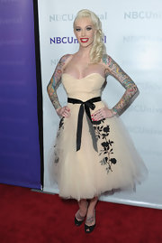 Sabina Kelly went for a Rockabilly look in a tulle dress at the TCA All-Star Party.