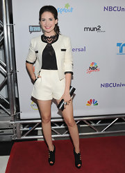Alison Brie looked fun and stylish at the same time in a white short suit at the 2011 TCA press tour all-star party.