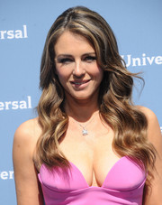 Elizabeth Hurley was gorgeously coiffed with mermaid waves at the NBCUniversal Upfront.
