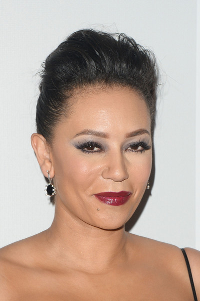 Melanie Brown sported a rocker-glam pompadour at the NBCUniversal Golden Globes after-party.