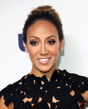 Melissa Gorga went for classic styling with this high bun when she attended he NBCUniversal Cable Entertainment Upfronts.