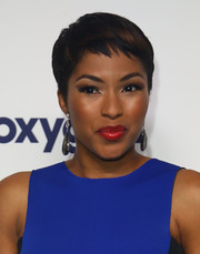 Alicia Quarles topped off her look with a charming pixie when she attended the NBCUniversal Cable Entertainment Upfronts.