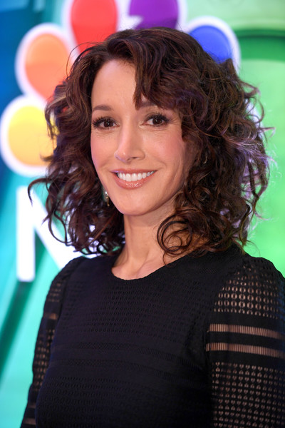 Jennifer Beals wore high-volume curls with side-swept bangs at the NBCUniversal Press Junket.
