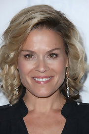 Cat Cora wore pretty medium curls to the NBC Universal Summer Press Day in Pasadena.