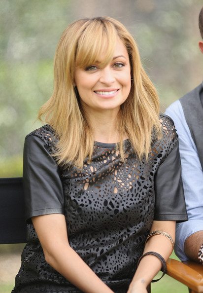 More Pics of Nicole Richie Long Straight Cut with Bangs (1 of 10) - Long Straight Cut with Bangs Lookbook - StyleBistro