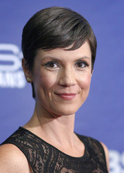 Zoe McLellan wore her hair in a neat pixie at the 'NCIS: New Orleans' screening.