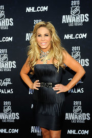 Adrienne Maloof wore a very classy textured strapless LBD during the NHL Awards.
