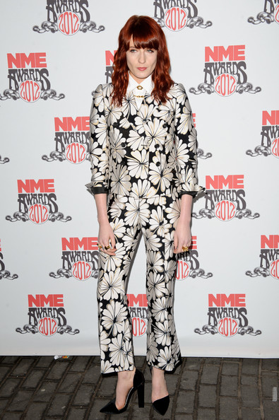 More Pics of Florence Welch Long Wavy Cut with Bangs (1 of 5) - Florence Welch Lookbook - StyleBistro
