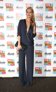 Laura Whitmore picked a sexy V-neck wrap Maria Grachvogel jumpsuit for the 2015 NME Awards at Brixton Academy in London, England.