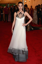 China Chow got creative on the Met red carpet in this structured gown.