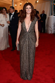 Debra Messing took the plunge in this daring sequined gown at the Met Gala.