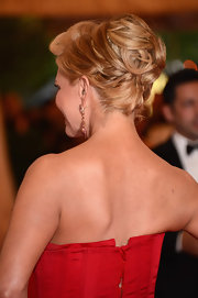 Nancy O'Dell swept her hair up into an ornate 'do for the Met Gala.