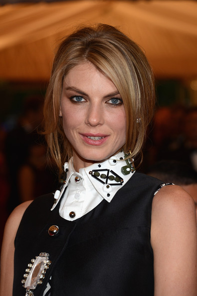 More Pics of Angela Lindvall Bobby Pinned Updo (1 of 5) - Angela Lindvall Lookbook - StyleBistro