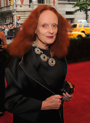 Grace Coddington wore a stunning crystal statement necklace to the Costume Institute Gala.