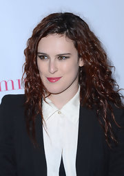 Rumer Willis added a touch of pretty raspberry gloss to her edgy look at a celebration for 'Nylon' magazine's young Hollywood issue.