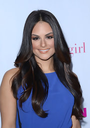 Pia added an opaque application of a glossy nude lipstick for the 'Nylon' magazine celebration.