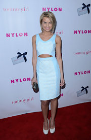 Chelsea Kane showed off her fierce abs in this cutout dress at the 'Nylon' party.