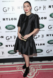Charli XCX opted for a conservative LBD when she attended Nylon's Rebel Fashion party.