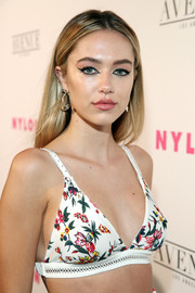 Delilah Belle Hamlin opted for a straight, center-parted style when she attended the Nylon Young Hollywood party.