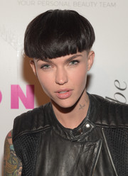 Ruby Rose rocked an edgy bowl cut at the Nylon Young Hollywood Party in West Hollywood.