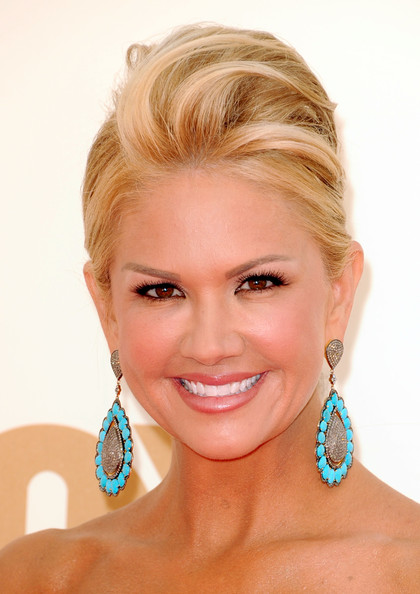 TV personality Nancy O'Dell arrives at the 63rd Annual Primetime Emmy Awards ...