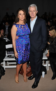 Talia Balsam attended the Nanette Lepore Fall 2010 fashion show wearing a lovely print mini dress.