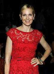 Kelly Rutherford went neutral with her nails at the Nanette Lepore 2012 fashion show. Her sheer, super pale polish worked perfectly with her lacy, vibrant red dress.