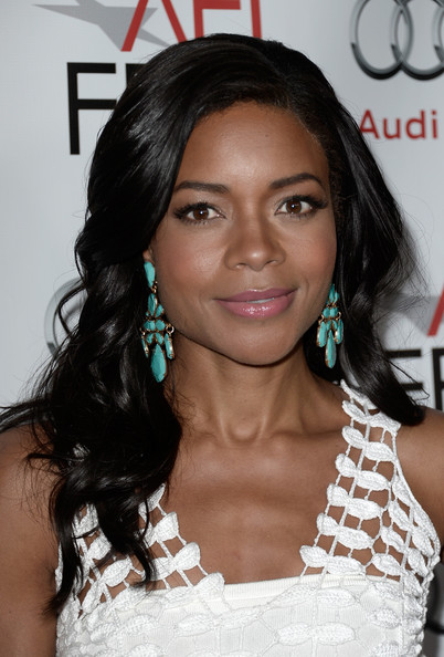 Naomie Harris Dangling Turquiose Earrings
