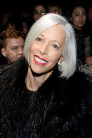 Linda Fargo stood out at the Narciso Rodriguez Fall 2015 show with her sleek silver bob.