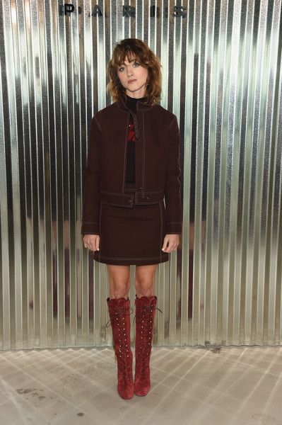 Natalia Dyer Lace Up Boots