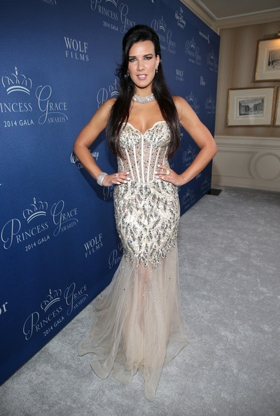Natalie Burn Corset Dress [dress,clothing,fashion model,gown,shoulder,fashion,strapless dress,hairstyle,beauty,formal wear,couture - red carpet,natalie burn,christian dior,beverly hills,california,beverly wilshire four seasons hotel,princess grace awards,christian dior couture,sponsor,princess grace awards gala]