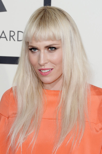 Natasha Bedingfield Long Straight Cut with Bangs