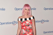 Natasha Bedingfield Off-the-Shoulder Dress