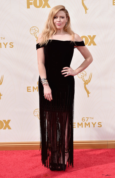Natasha Lyonne Off-the-Shoulder Dress