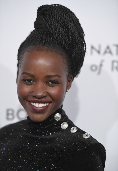 Lupita Nyong'o rocked a voluminous multi-braid updo at the 2018 National Board of Review Awards Gala.