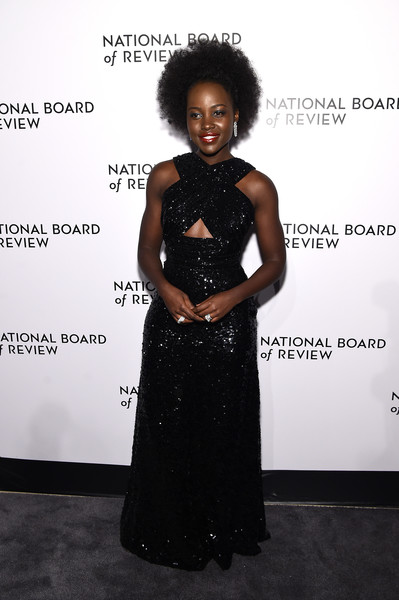 More Pics of Lupita Nyong'o Red Lipstick (1 of 12) - Lupita Nyong'o Lookbook - StyleBistro [clothing,shoulder,dress,fashion,hairstyle,beauty,fashion design,flooring,carpet,joint,arrivals,lupita nyongo,new york city,cipriani 42nd street,the national board of review annual awards gala,national board of review annual awards gala,lupita nyongo,new york,national board of review,golden globe awards,annual awards gala,actor,academy awards,critics choice movie awards,film director,2020]