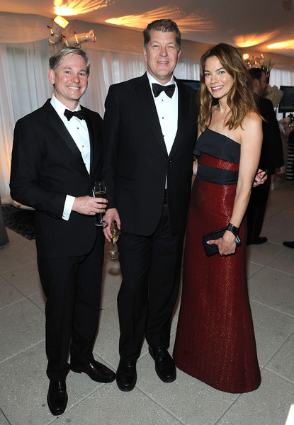 More Pics of Michelle Monaghan Cuff Bracelet (1 of 5) - Bracelets Lookbook - StyleBistro [suit,formal wear,tuxedo,clothing,event,dress,fashion,outerwear,gown,smile,andrew oros,the atlantic white house correspondents,editor,steve clemons,michelle lynn monaghan,l-r,atlantic,washington,national journal,reception]