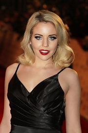 Lydia Bright wore an ultra-long and voluminous pair of false lashes at the 2012 National Television Awards.