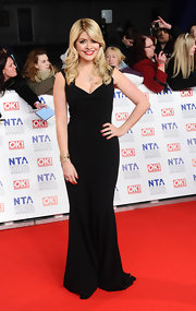 Holly Willoughby looked simply elegant in a sleek black gown at the National Television Awards.
