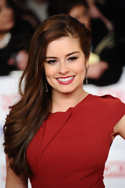 Rachel Shenton wore her hair straight, sleek and side-swept at the National Television Awards.