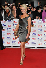 Zoe went for neutral tones in a soft silk for her NTA cocktail dress.