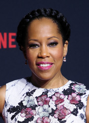 Regina King looked romantic with her crown braid at the Netflix FYSEE kickoff event.
