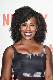 Uzo Aduba looked perfectly styled with this high-volume curly 'do at the Netflix launch party in Paris.